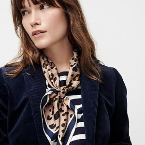 J. Crew Square silk scarf in leopard